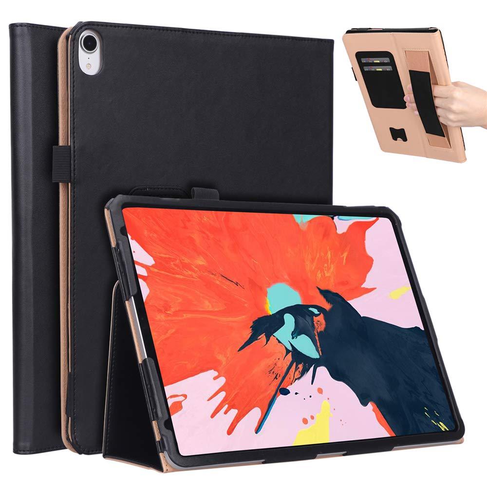 【新作からSALEアイテム等お得な商品満載】 Happon iPad ブラック, Pro 11インチ ブラック 2018年ケース iPad Pro Pro 11インチ 2018年 レザーウォレットケース, ブラック, 312Z-6L-491 ブラック B07KYB51NZ, 神戸ロングテール:a3815b1b --- a0267596.xsph.ru