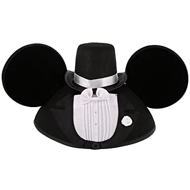 Image Unavailable. Image not available for. Color  Disney Parks Exclusive Mickey  Mouse Wedding Tuxedo Groom Ears Hat b3dd8ab8dbe