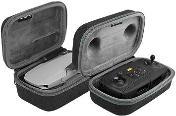 Linghuang Estuche rígido de Bolsas portátiles para dji Mavic Mini Drone Accesorios Protección de Transporte Bolsa de Almacenamiento (para Control Remoto + Drone): Amazon.es: Juguetes y juegos