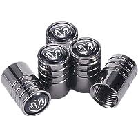 MYLMSM Extra Black Long Wheel Tyre Valve Stem Caps For Ford