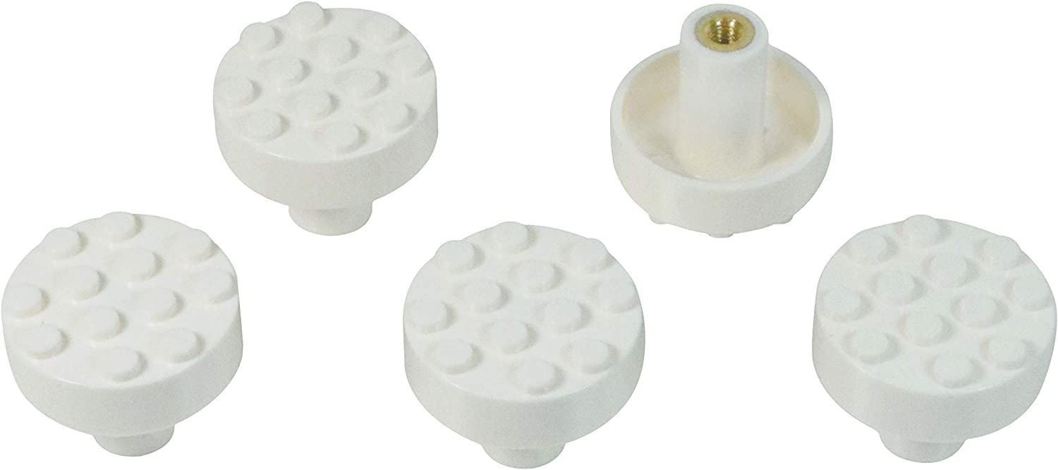 Shop Set of 5 Build-On Brick Knobs from Amazon on Openhaus