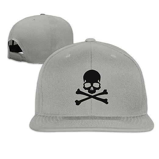 Skull Bones Logo Clip Art Mens Womens Cotton Adjustable Flat Brim Baseball  Hats Hip Hop Snapback e74555ac8ab9