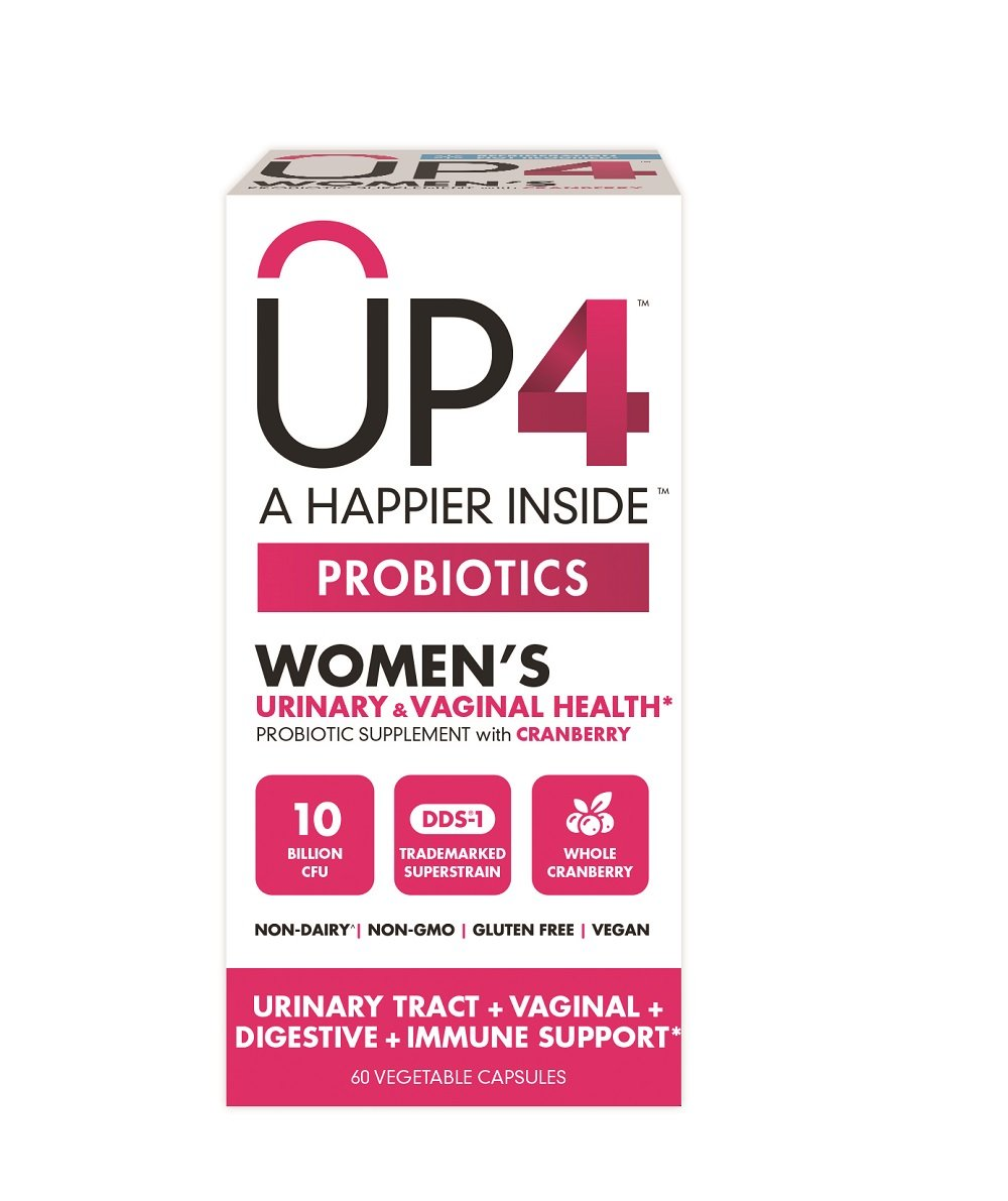 UP4 Probiotic Supplement for Women - Urinary Tract & Vaginal Health, Whole Cranberry – Digestive and Immune Support  - 10 Billion CFU – Non-GMO, Gluten Free, Vegan - 60 Capsules