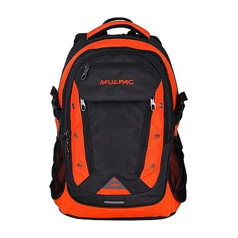 MULPAC - Mochila para ordenador portátiles para estudiantes universitarios naranja Black ...