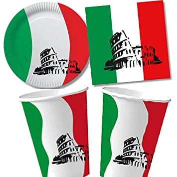 40 Italy Set Of Paper Plates + Napkins + Paper Cups for Childrens Birthday Parties Gift  sc 1 st  Amazon UK & 40 Italy Set Of Paper Plates + Napkins + Paper Cups for Childrens ...