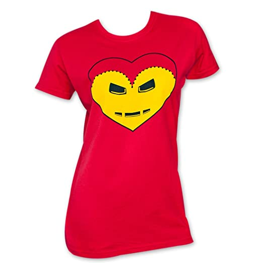 58bc3bb2ff Amazon.com  Iron Man Iron Heart Red Women s T-Shirt  Clothing