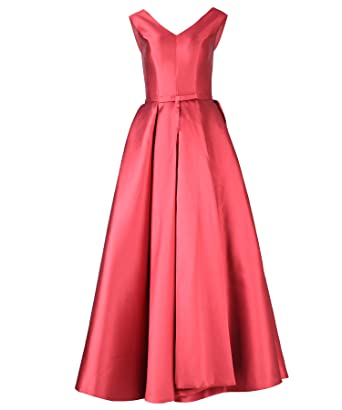 Samiarit Womens Formal Ball Gown Satin Evening Party Bridesmaid Prom Dress (S)