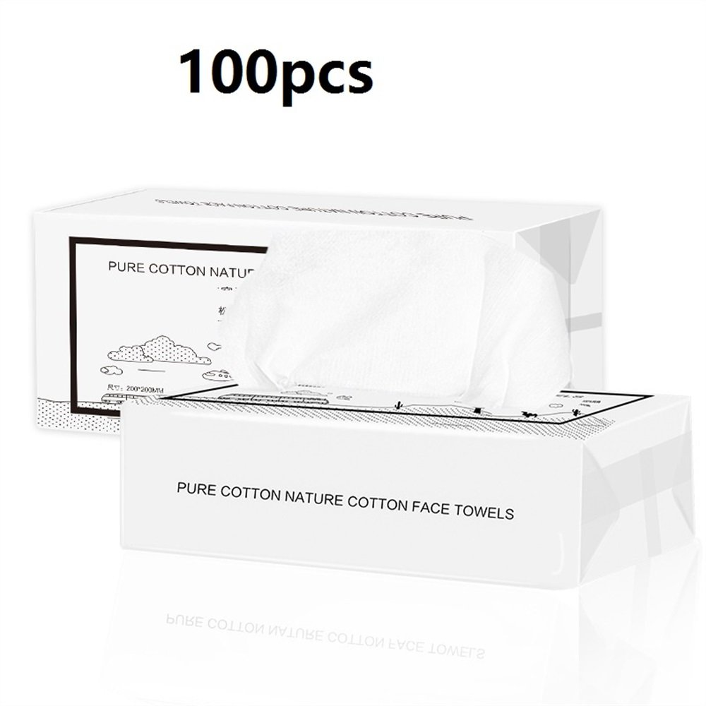 Pure Facial Cotton Tissue Cotton Soft Towel Absorbent Cotton Pad for Face Eye Makeup Remover and Nail Polish Best for Travel (Appr.100pcs) FGVBHTR Beauty