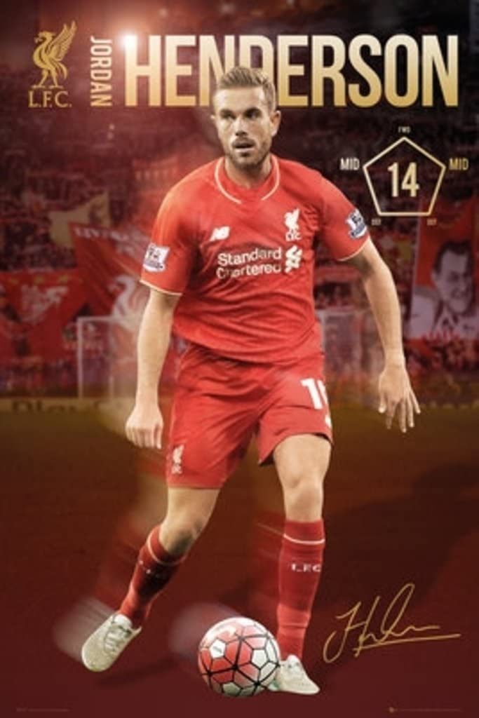 Liverpool FC Jordan Henderson Soccer Football Sports Cool Wall Decor Art Print Poster 24x36