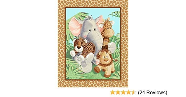 PATTY REED JUNGLE BABIES QUILTING 100/% COTTON FABRIC TRADITIONS FREE US SHIPPING