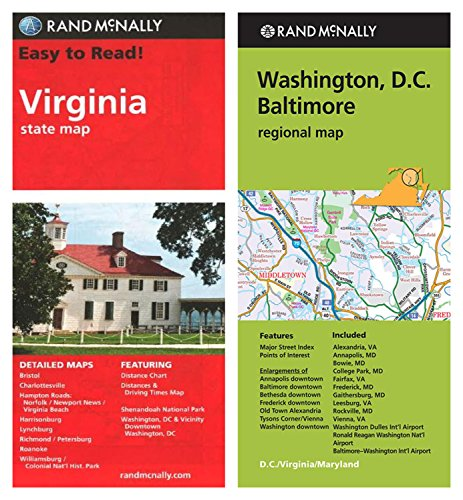 Amazoncom Rand Mcnally State Maps Virginia And Washington Dc