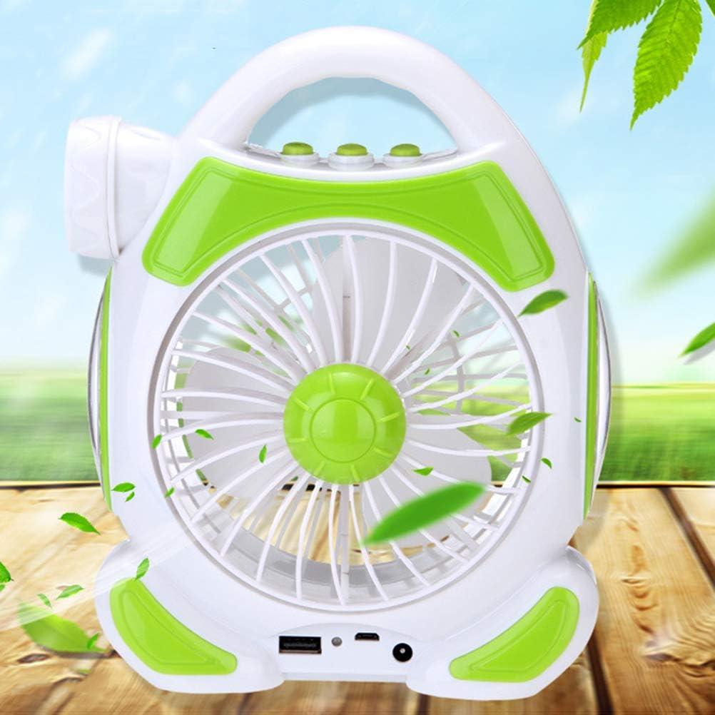 Uonlytech Portable Fan Random Color USB Desk Fan Multi-Function Fan Light for Student Dormitory Bedroom Office Camp