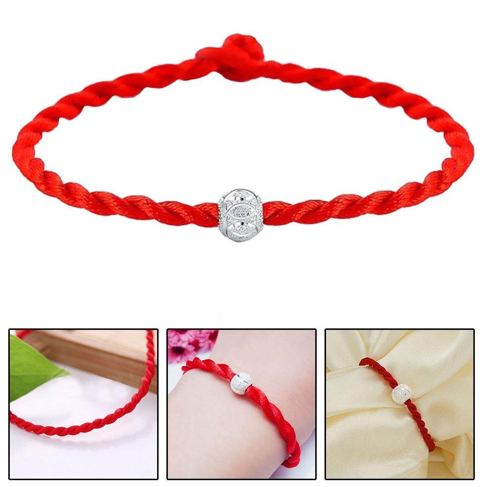 TM Braided Good Fortune Blessing Bracelet Unisex Couple Jewelry Gift 2 Pcs Qiaonai