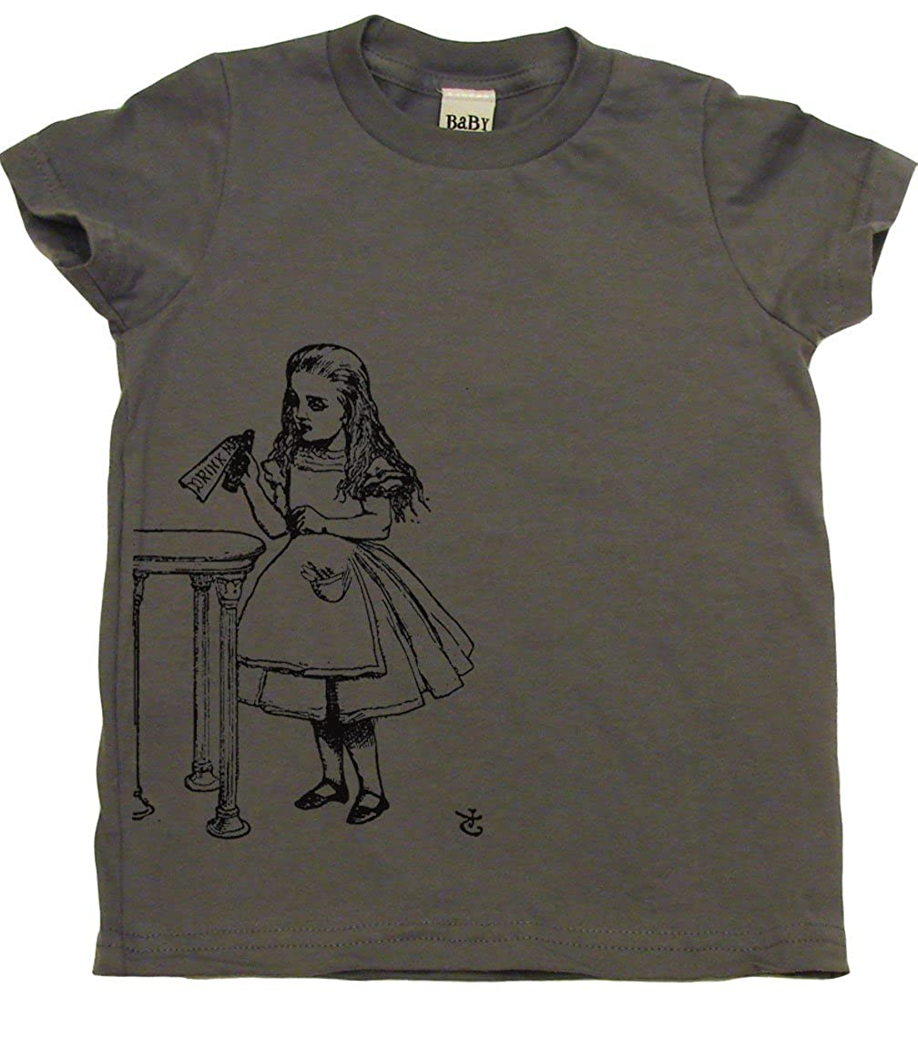 Drink Me Alice in Wonderland Toddler Clothes Boy Or Girl T-Shirts Cute Kids Gift