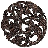 Paragon Picture Gallery 9871 Aged Copper Leaf Swirl Wall Decor