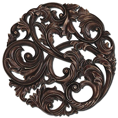 Paragon Picture Gallery 9871 Aged Copper Leaf Swirl Wall Decor by Paragon Picture Gallery