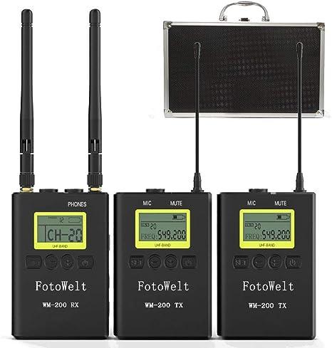 Fotowelt UHF 100 Canales Micrófono Profesional Inalámbrico ...