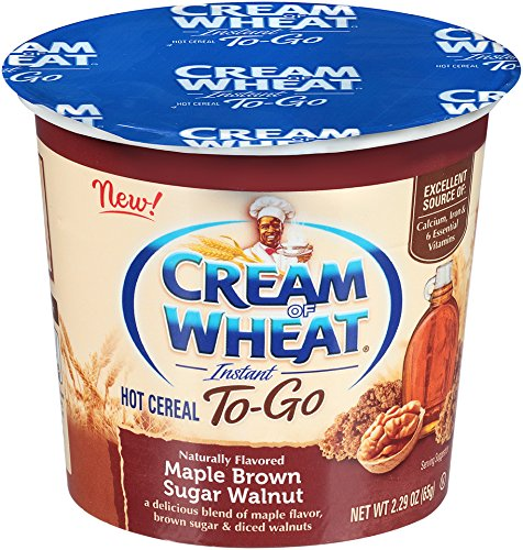 Cream Food (Cream of Wheat, Hot Cereal to Go, Maple Brown Sugar Walnut, 2.29 Ounce (Pack of 6))