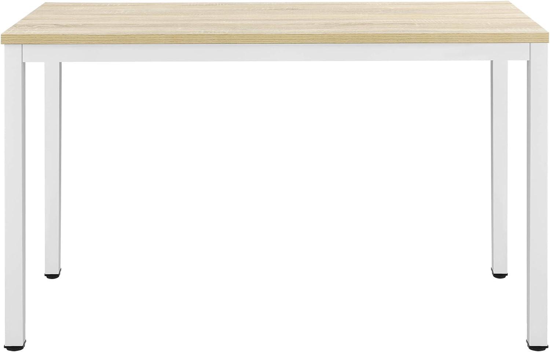 Scrivania Odense con Gambe Avvitabili 75 x 120 x 60 cm Tavolo con Altezza Regolabile en.casa Bianco//Quercia
