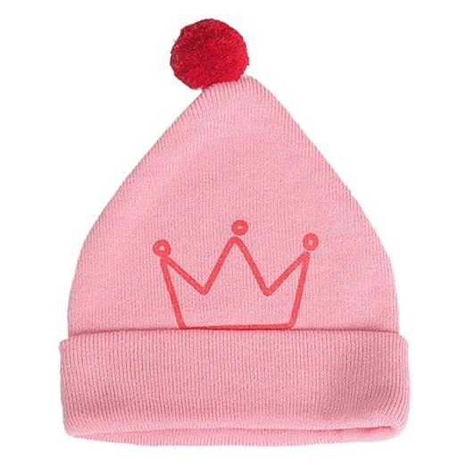 95bdcb9069cd9e Amazon.com: Iuhan Crown Print Baby Beanie Boys Girls Cap Cotton Hat  Children Lovely Hats (Pink): Clothing