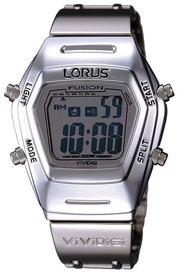 Lorus RBZ005L-9 - Reloj de Caballero de Cuarzo, Correa de Acero Inoxidable Color Plata: Amazon.es: Relojes