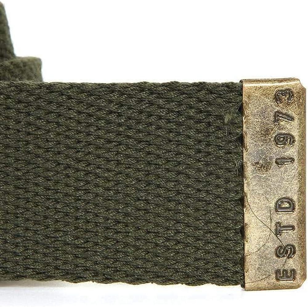 BILLABONG Cintur�n de tela de algod�n tejido abrebotellas ~ sargento militar oscuro