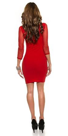 Kleid Glamour mit Kleid NetzeinsatzrotBekleidung Glamour Glamour NetzeinsatzrotBekleidung mit NetzeinsatzrotBekleidung Kleid mit Kleid mit Glamour WDY9I2EH