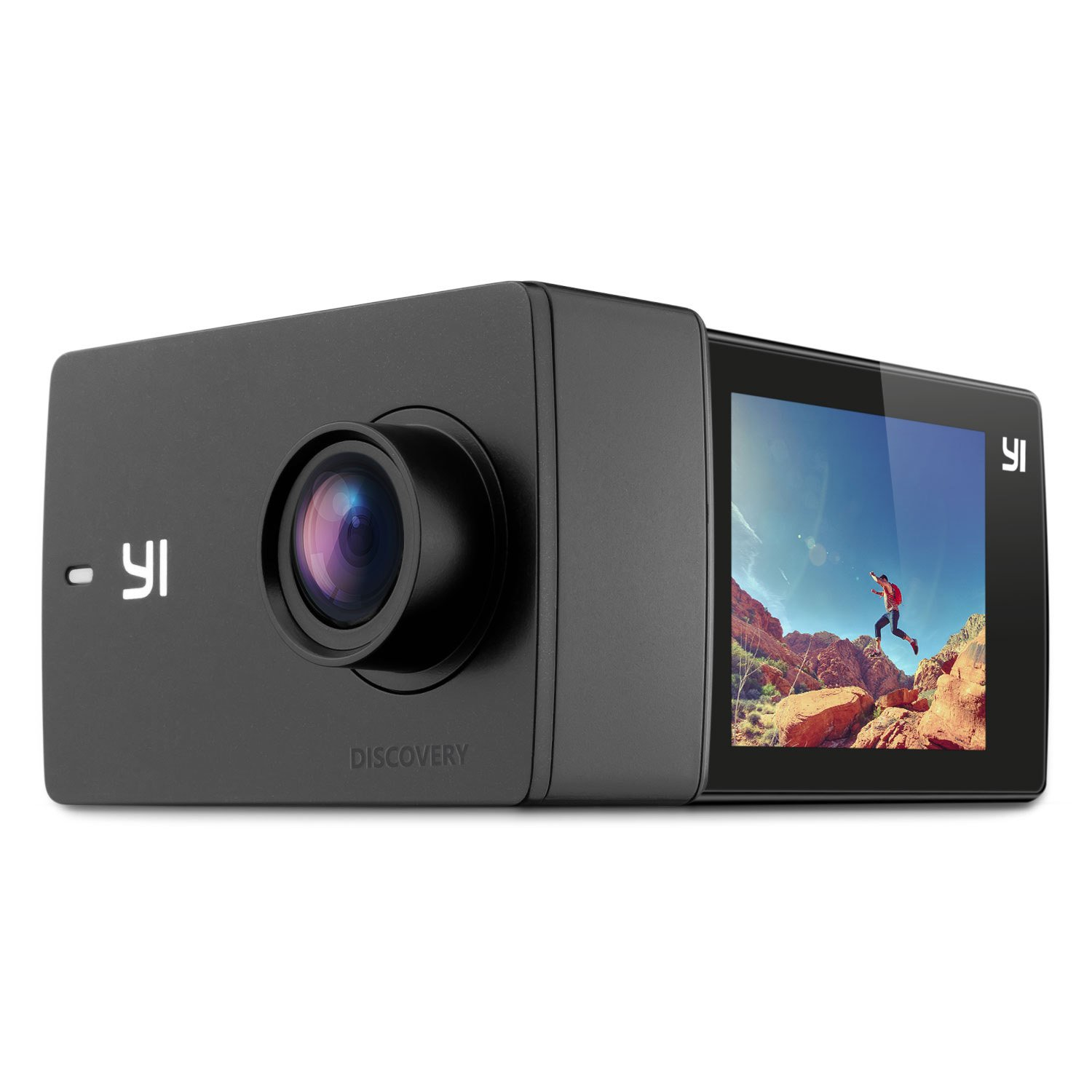 YI Discovery Action Camera, 4K Sports Cam with 2.0'' Touchscreen, Built-in Wi-Fi, 150°Wide Angle, Sony Image Sensor for Underwater, Outdoor Activity by YI