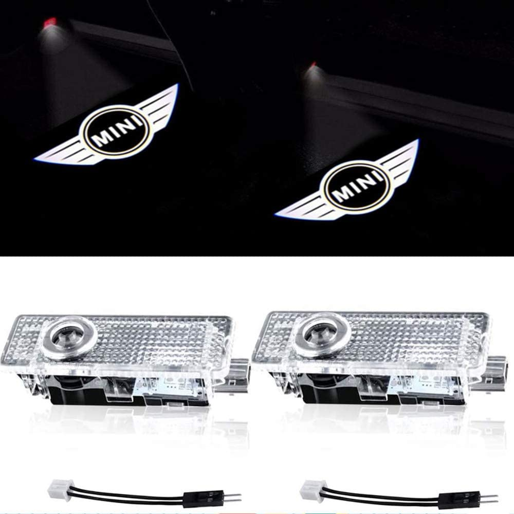 Compatible Mini Cooper Accessories Car Door LED Logo Projector Welcome Lights For Mini Cooper 2-Pack