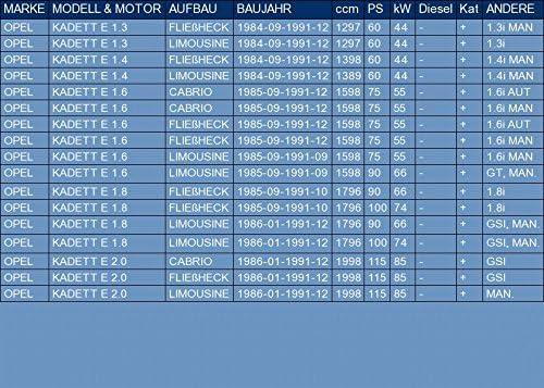 f/ür KADETT E 1.3 1.4 1.6 1.8 2.0 FLIE/ßHECK LIMOUSINE CABRIO 60//75//90//100//115hp 1984-1991 ETS-EXHAUST 1226 Mitteltopf Auspuff