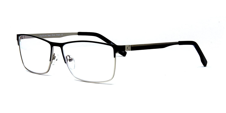 fc7241d4e0e861 Amazon.com  Sightline Saul Handmade Multifocal Reading Glasses +1.00  Progressive Magnification Lenses with Anti-Glare Coating  Frame Size   56-15 145  Health ...