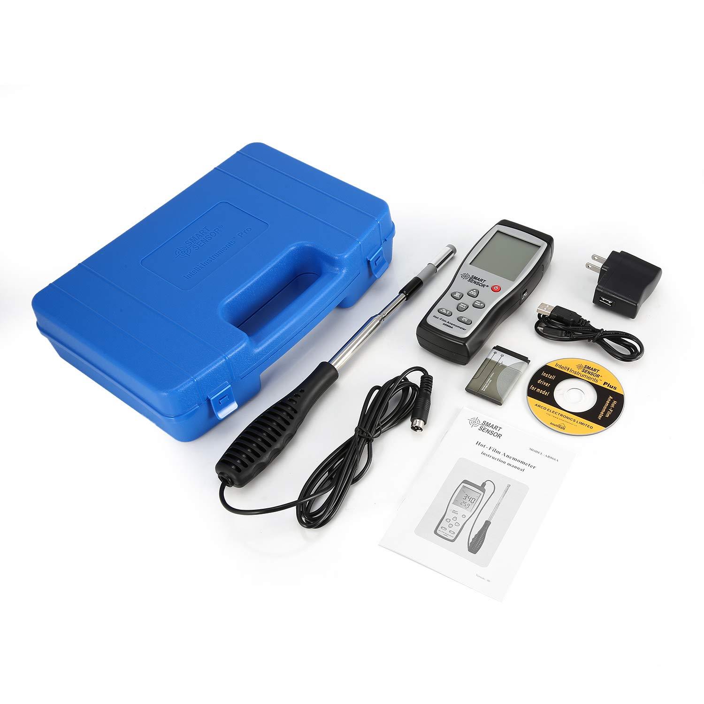 Smart Sensor AR866A Digital Hot-Film Thermal Anemometer Air/Wind Speed Meter 0.3~30m/s Anemometro Measuring Instrument