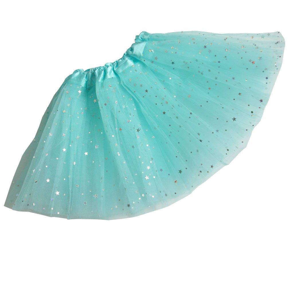 Csbks Girls Sparkle Layered Tulle Tutu Skirt Ballet Dance Mini Tutus CA14010024B-Dark Purple