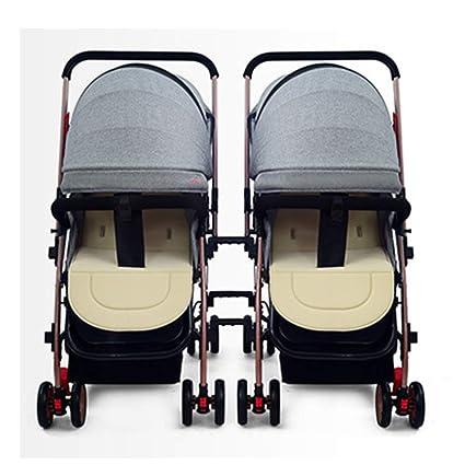 WU ZHI Twin Double Pushchair Pram Buggy Lightweight Foldable