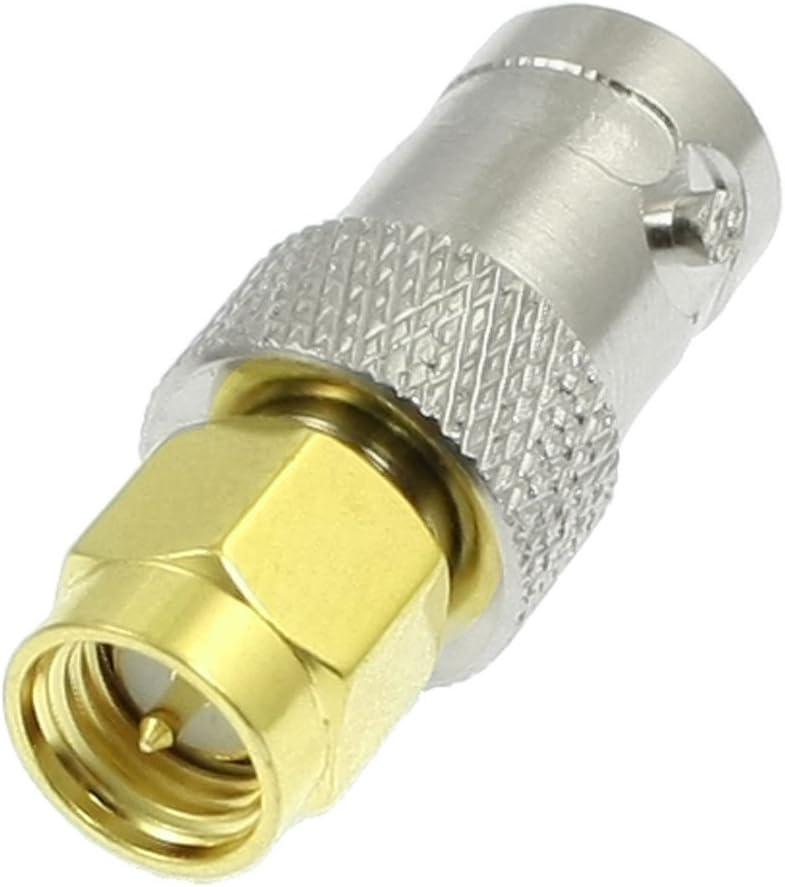 Sourcingmap - Adaptador de cable coaxial (conector SMA macho a BNC ...