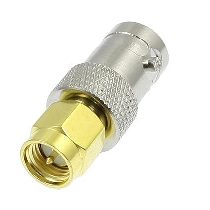 Sourcingmap - Adaptador de cable coaxial (conector SMA macho a BNC hembra)
