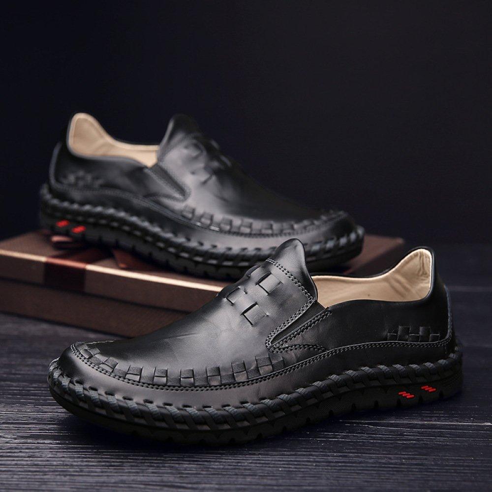 Männer Freizeitschuhe Joker Mode Schuhe Handgefertigte schwarz Fahr Schuhe Slip on schwarz Handgefertigte 9ce130