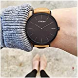 SINOBI Fashion Women Wristwatch Leather Watchband Simple Decent Casual Geneva Waterproof Lady Watch