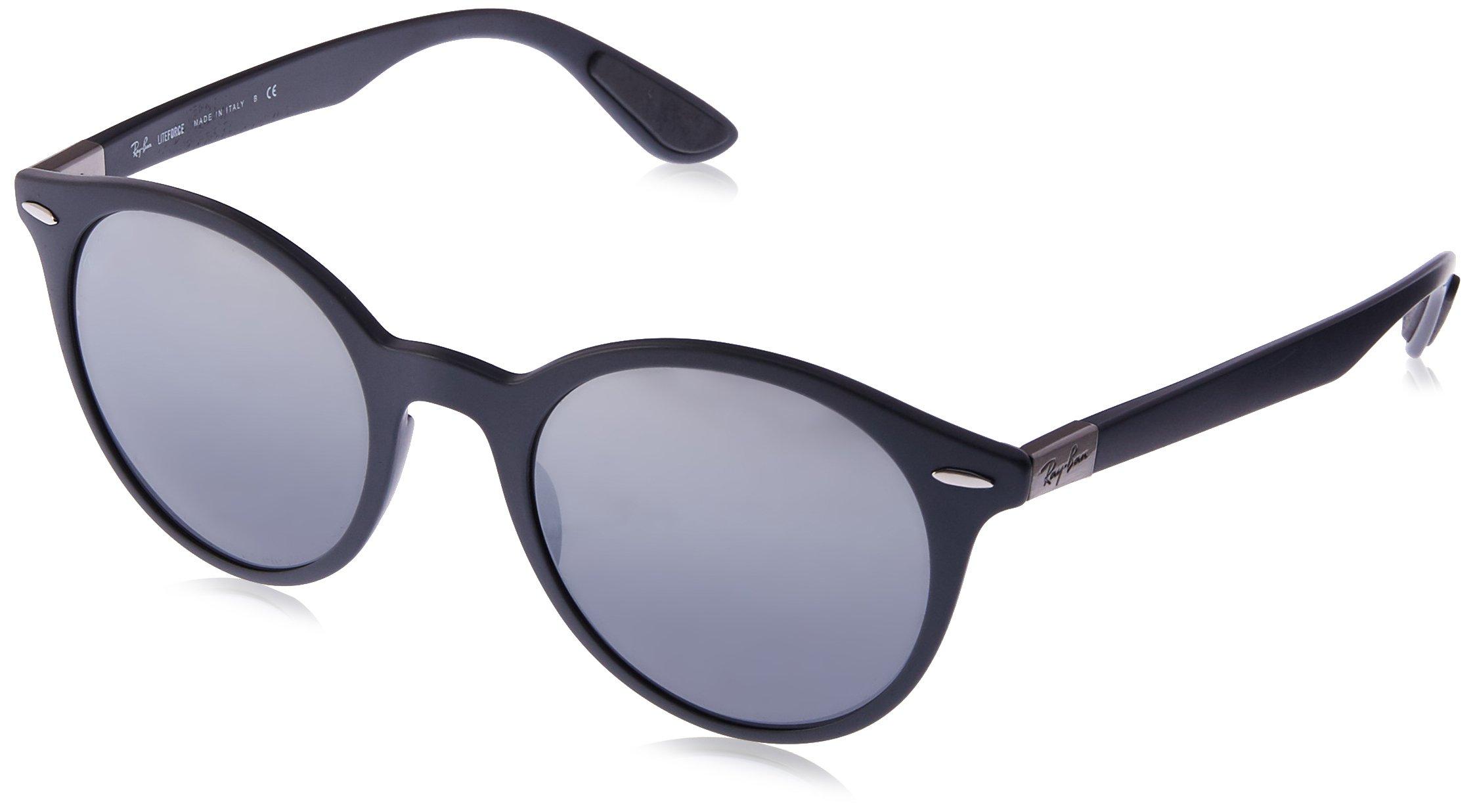 Ray-Ban RB4296 Round Sunglasses, Matte Grey/Grey Gradient Mirror, 50 mm