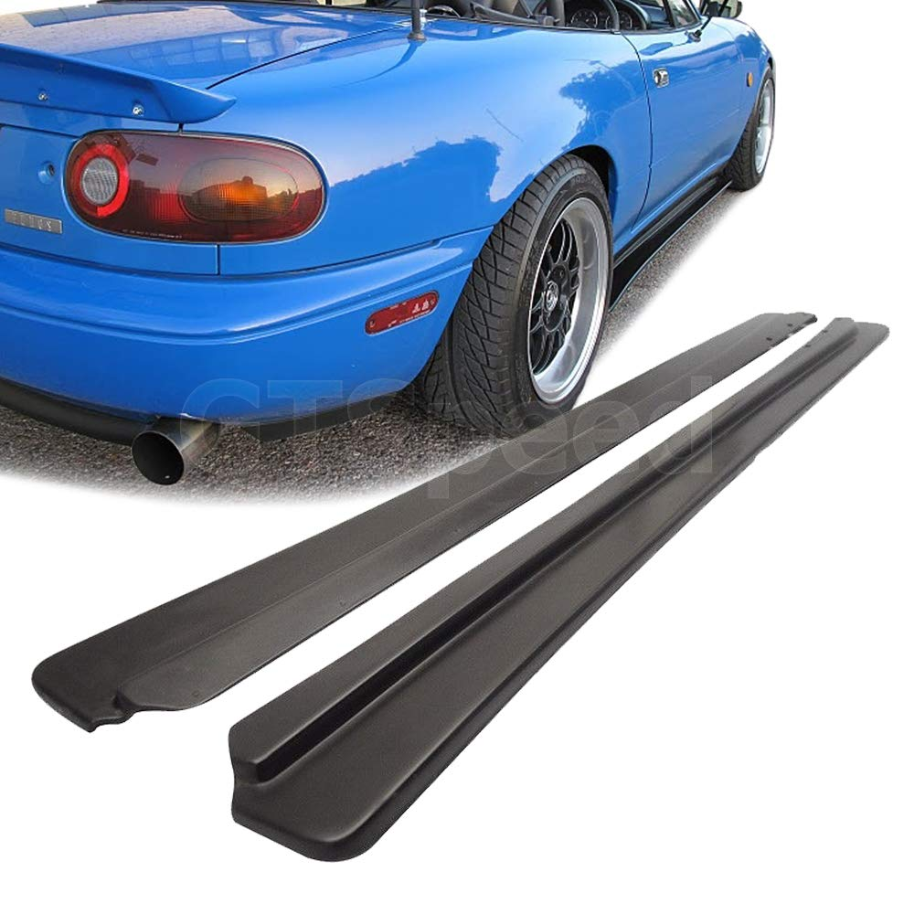 GT-Speed for 1990-1997 Mazda Miata NA MX5 Feed Style PU Side Skirts Extensions Under Panel Lip