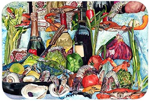 Multicolor 20 by 30 Carolines Treasures 8915CMTWine Crab Shrimp /& Oysters Kitchen or Bath Mat