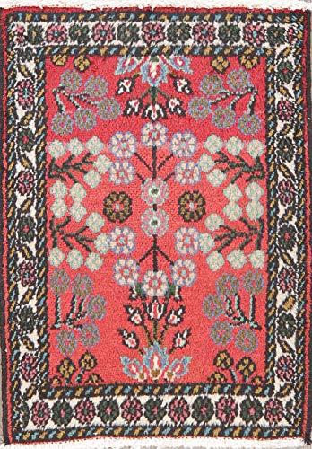 (Square Hamadan Persian Area Rug Handmade Oriental Floral Wool 2 x 2 Foyer Carpet)