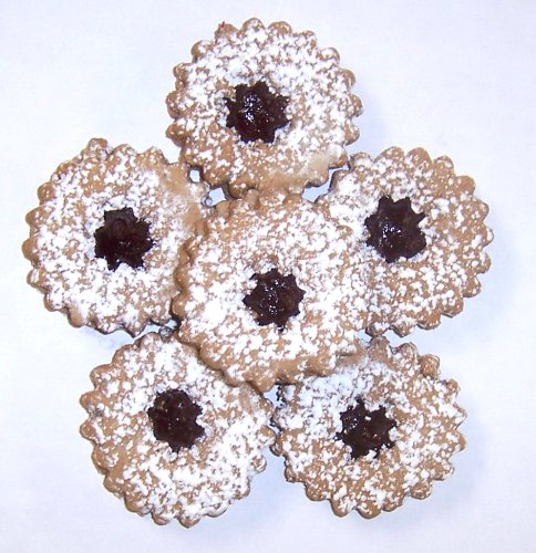 - Scott's Cakes Linzer Cookies with a Twist - Strawberry Marmalade in a 1 Pound White Bakery Box