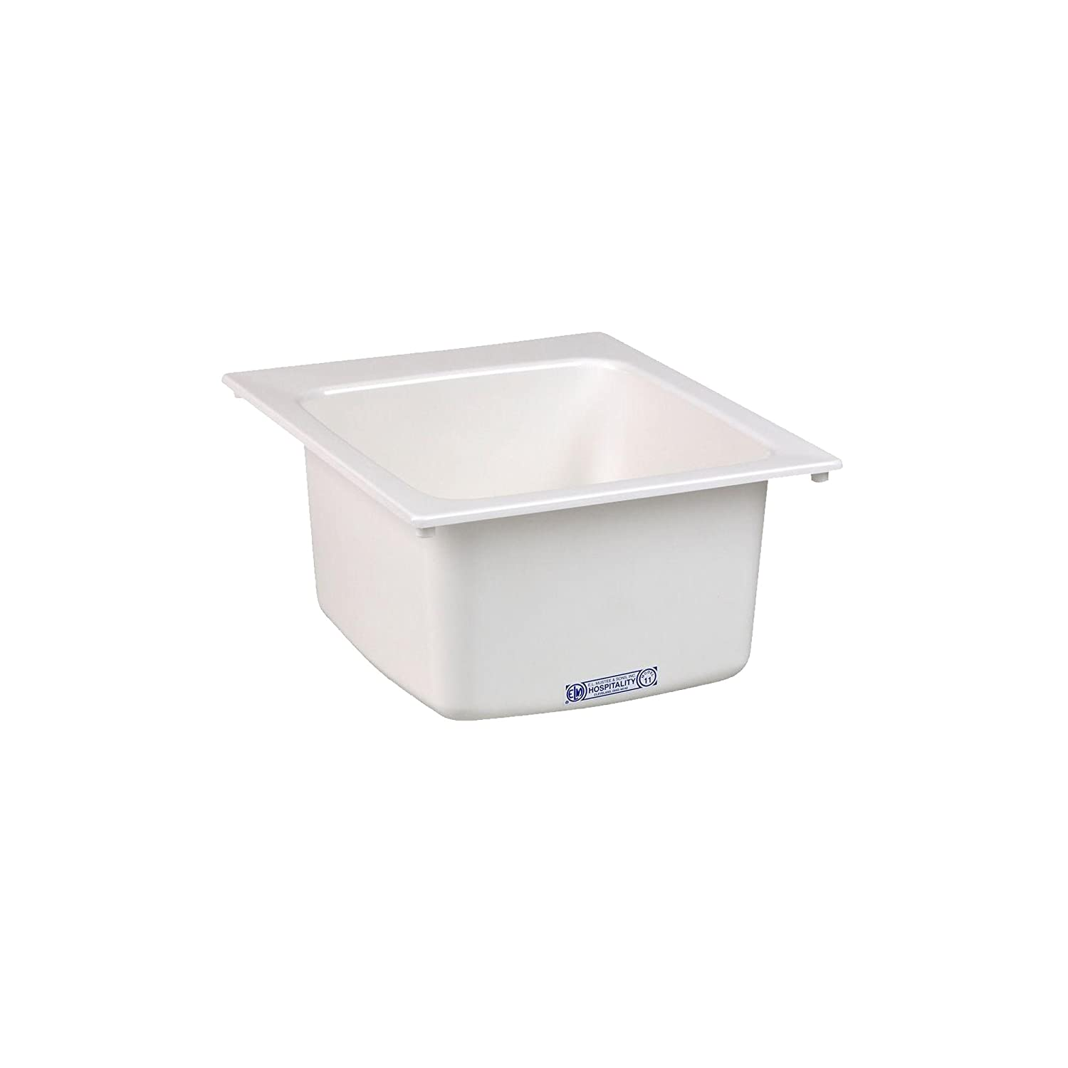 Mustee 11 Utility Sink, 17-Inch x 20-Inch, White