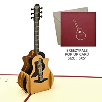 Amazon pop up thank you cards xiaoba mothers day card pop up thank you cards xiaoba mothers day card birthday card 3d guitar m4hsunfo