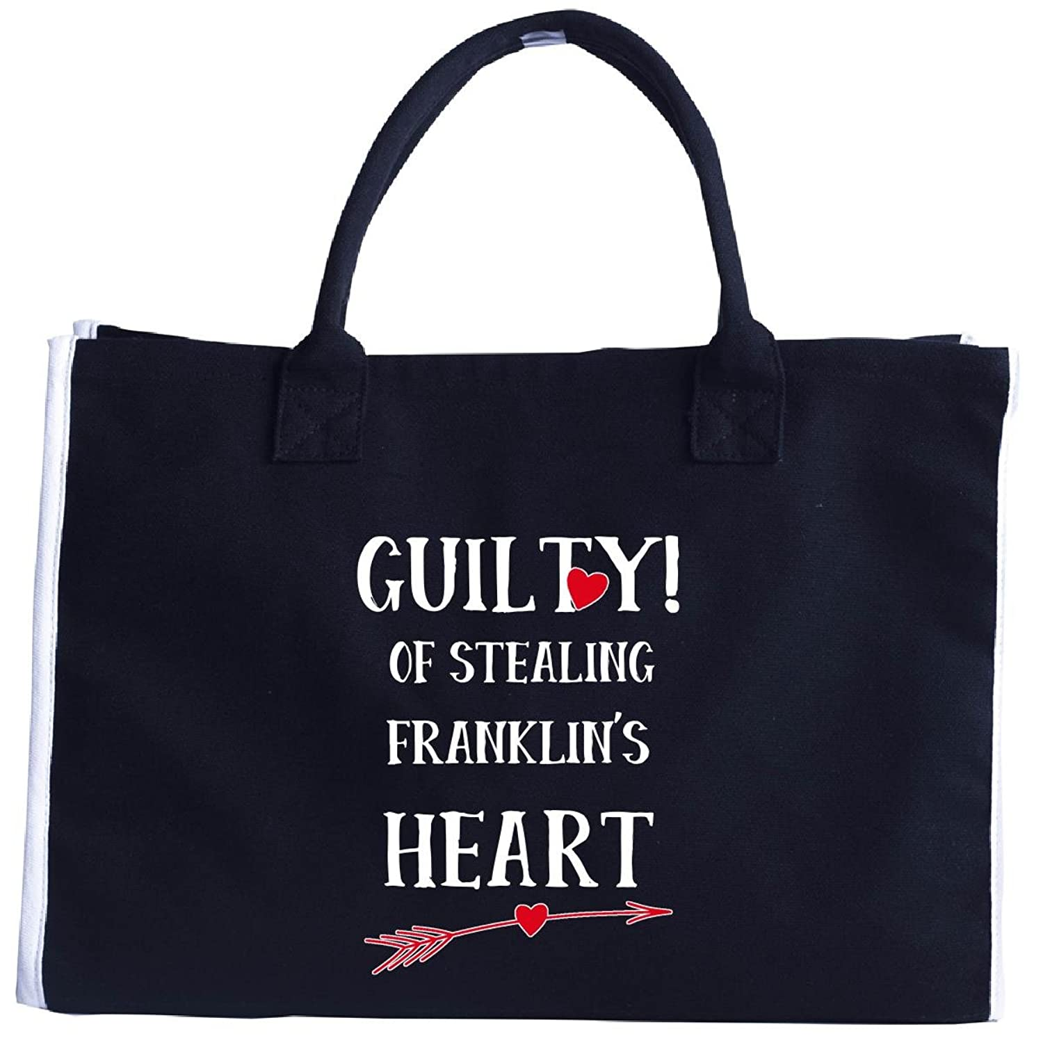 Guilty Of Stealing Franklin's Heart Funny Valentines Day - Tote Bag