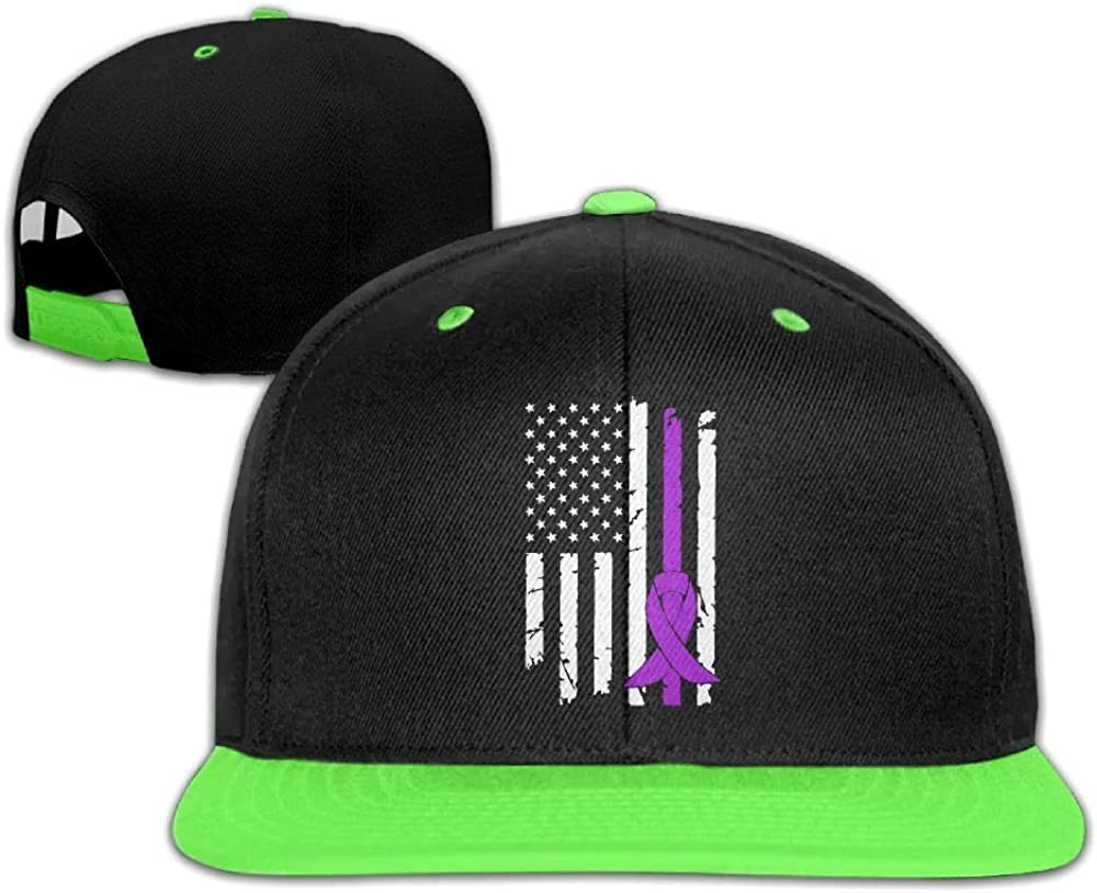 HERSTER Childrens Boys/&Girls Epilepsy Cancer Awareness USA Flag-1 Baseball Cap Snapback Hip Hop Cap Hats
