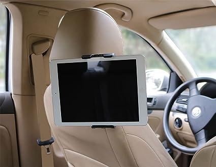 Soporte tablet coche el más resistente y seguro del mercado, soporte tablet ajustable al reposacabezas del ...