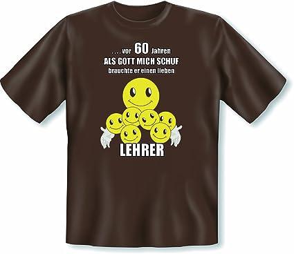 T Shirt Fur Lehrer Zum 60 Geburtstag Motiv Smiley Sixty Lieben