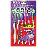 Colgate ZigZag Medium Bristle Toothbrush - 6 Pcs